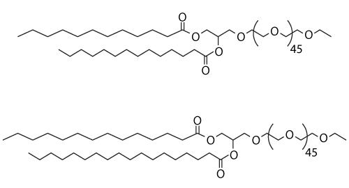 Structures of PEG2000-DMG and PEG2000-DSG